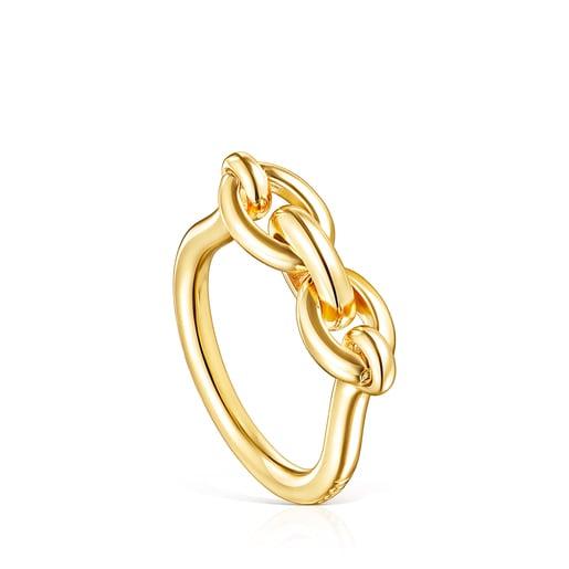 Anillo TOUS Good Vibes anillas de plata vermeil