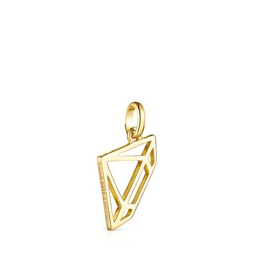 Μενταγιόν-διαμάντι Job από Ασήμι Vermeil