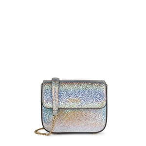 Small silver leather Rene crossbody bag