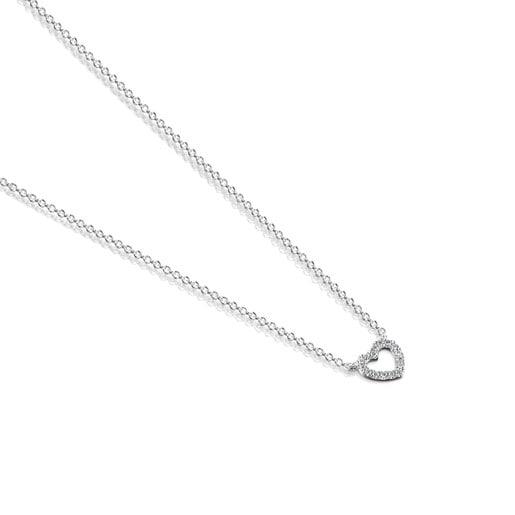 Collar Les Classiques corazón de Oro blanco y Diamantes