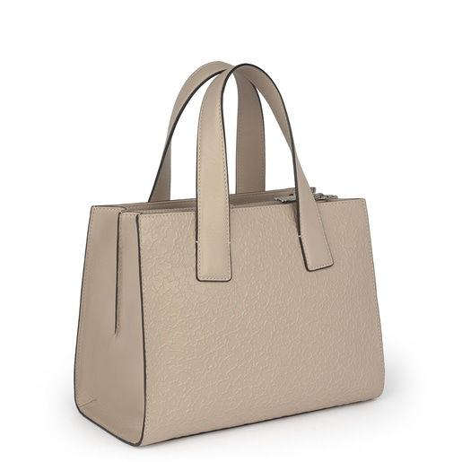 Beige leather Sira city bag
