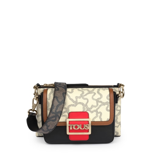 Double Kaos Icon Multi Red - Beige Shoulder Bag