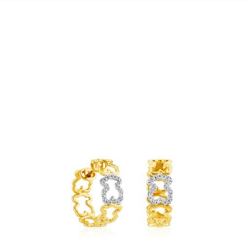 Boucles d'oreilles Silueta en Or