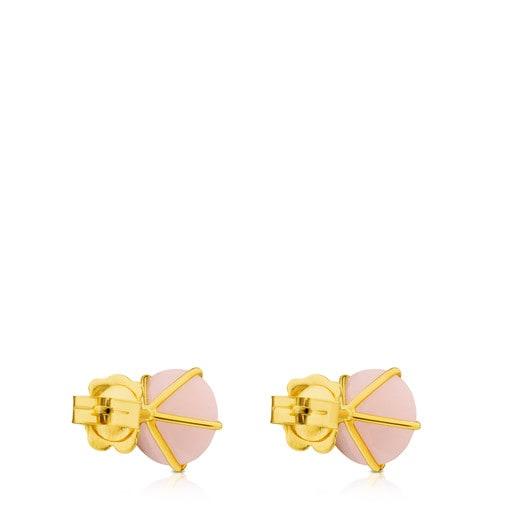 Boucles d'oreilles Ivette en Or avec Opale rose