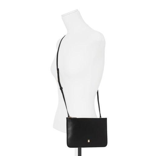 Bandolera mini Enara de Piel en color negro