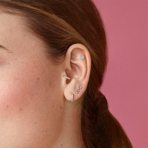 White Gold Eklat Earrings with Diamonds
