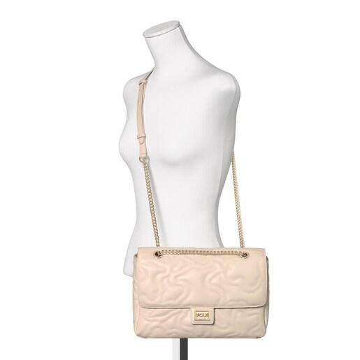 Medium beige Kaos Dream Crossbody bag with flap