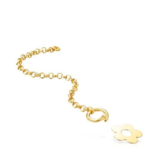 Bracelet Hold Metal fleur en Or Vermeil