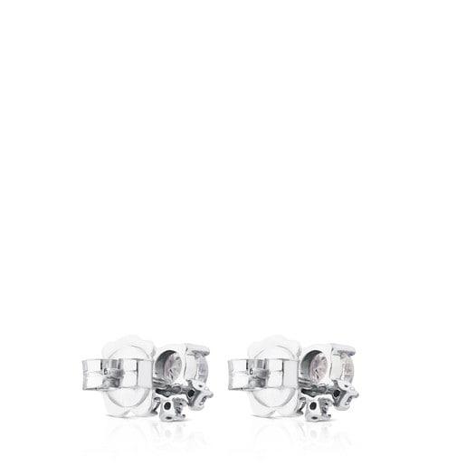 Ohrringe Eklat aus Weißgold mit Diamanten und Topas