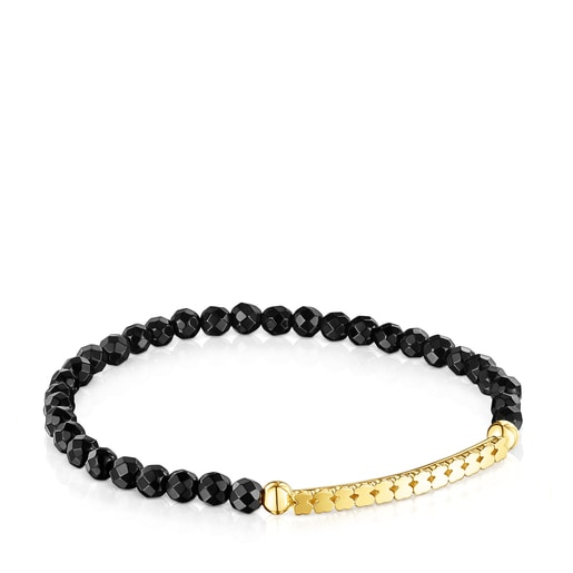 Silver Vermeil Straight Bracelet with Onyx