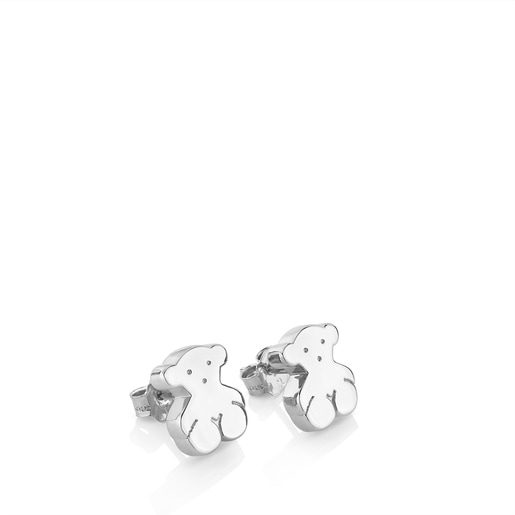 Silver Sweet Dolls bear Earrings