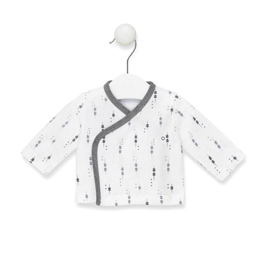 Camiseta cruzada M/L Luminary recién nadido Blanco