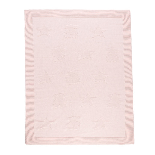 Nile stars and bears blanket in Pink