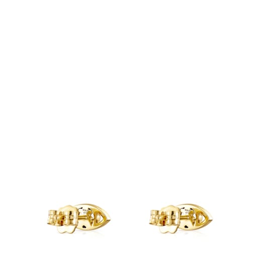 Aretes TOUS Good Vibes ojo de oro y diamantes