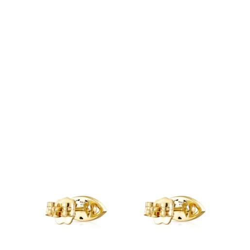 Aros TOUS Good Vibes ojo de oro y diamantes