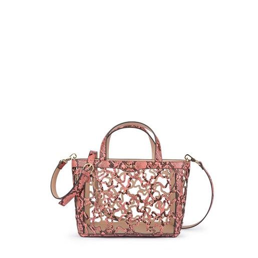 Small wild-pink Kaos Shock tote bag