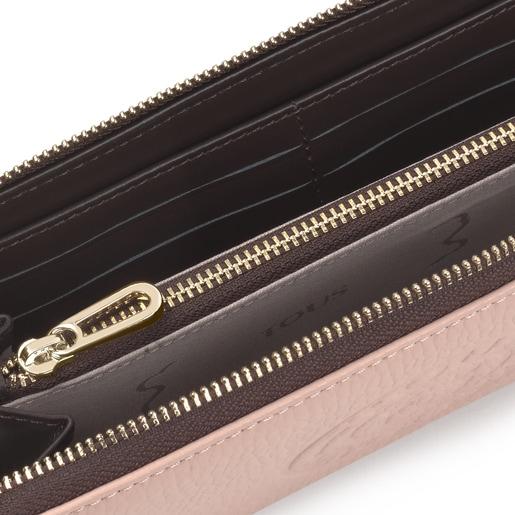 Billetera mediana New Leissa de rosa claro