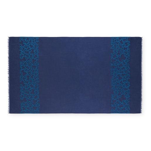 Foulard Aradia Jacquard Azul
