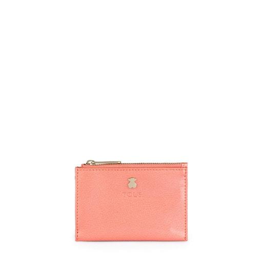 Porta-moedas e porta-cartões Dorp rosa