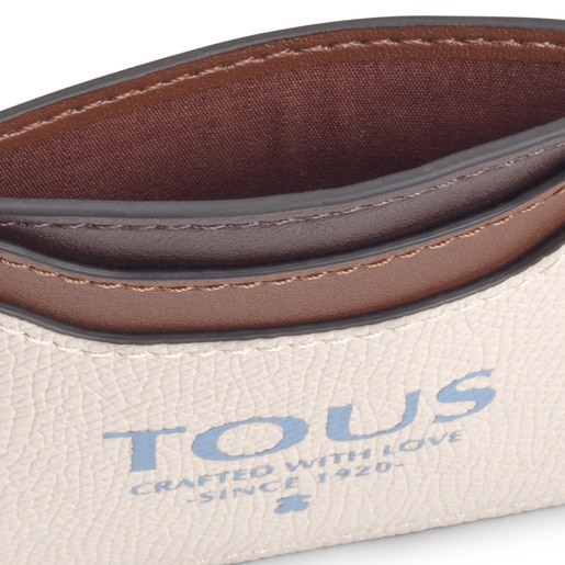 Beige and brown TOUS Essential flat Cardholder