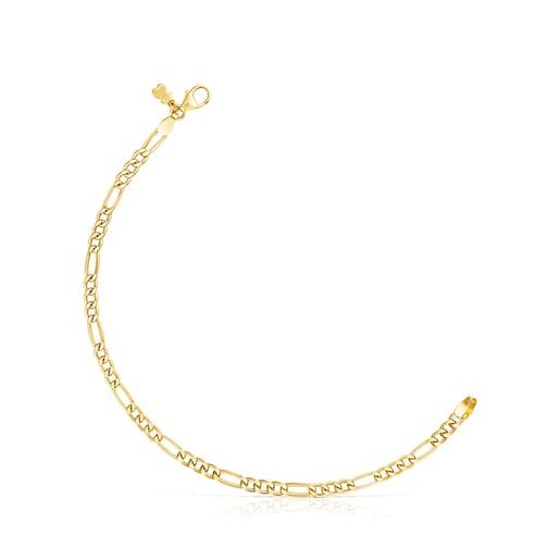 Silver Vermeil TOUS Chain curbed Bracelet