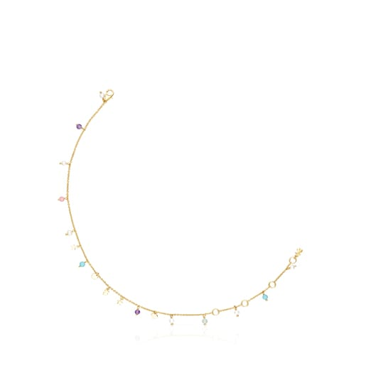 Silver Vermeil Cool Joy Anklet with Gemstones