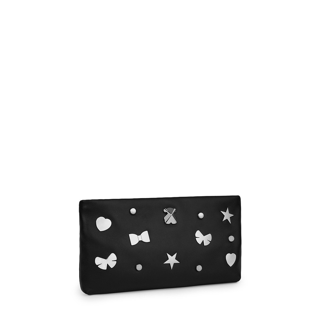 Clutch Melibea de Piel en color negro