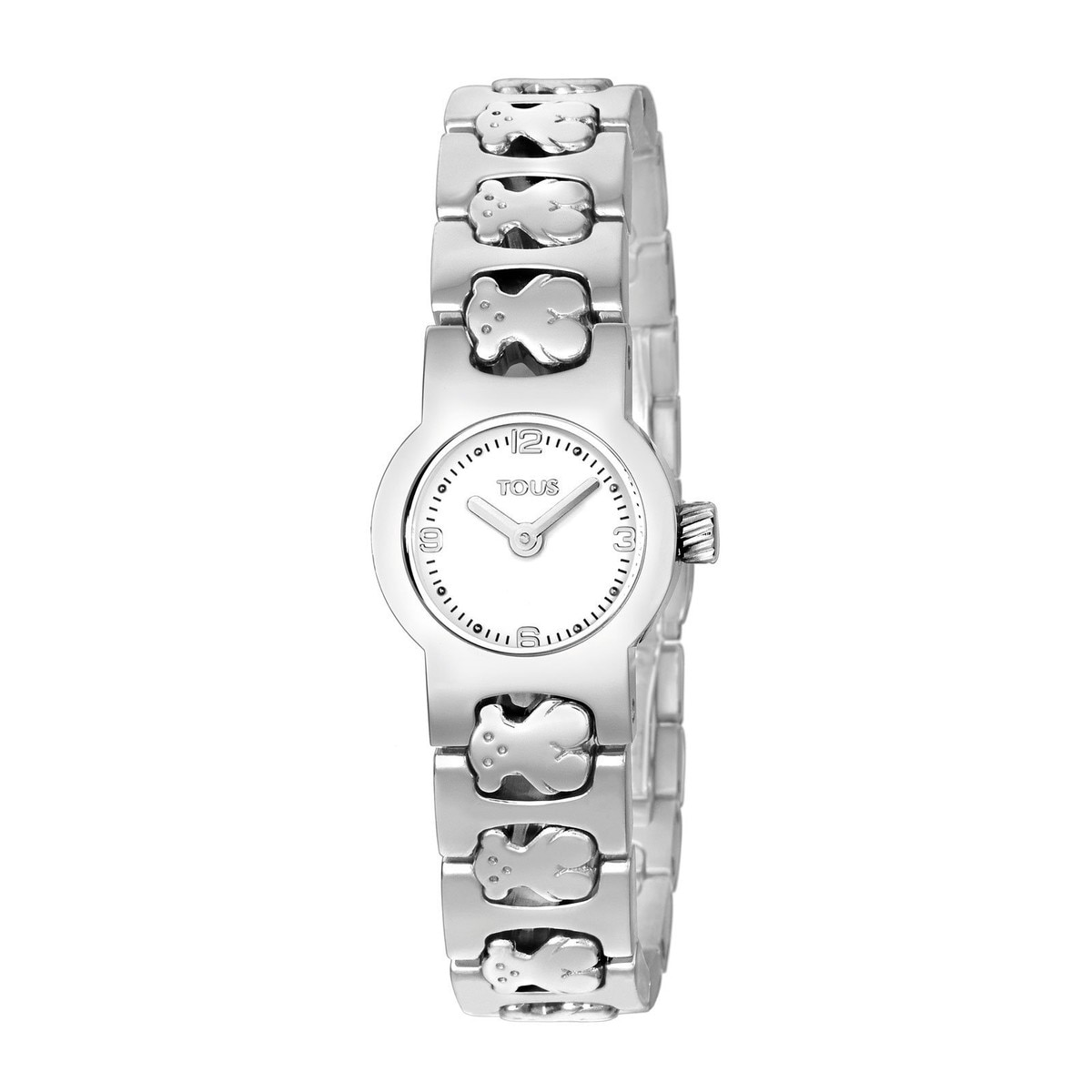Steel Praga Round Watch