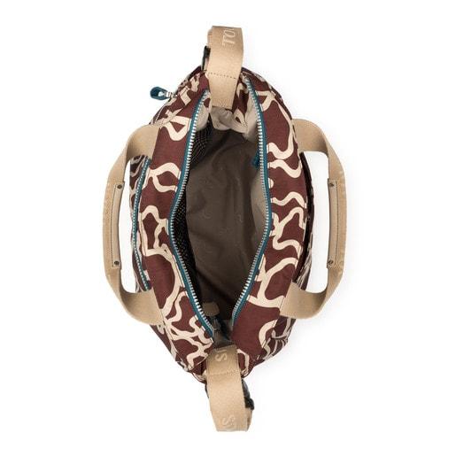 Bolsa de bebé Kaos Colores de Nylon en color burdeos-piedra