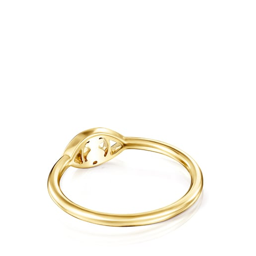 Anillo TOUS Good Vibes ojo de oro y diamantes