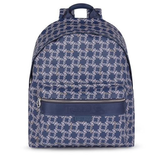 Medium navy Tous Logogram backpack
