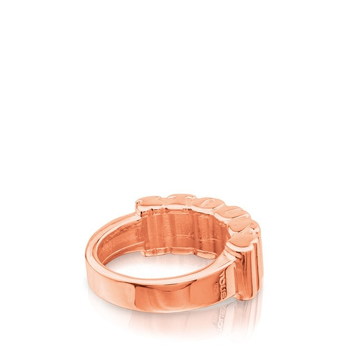 Pink Vermeil Silver View Ring