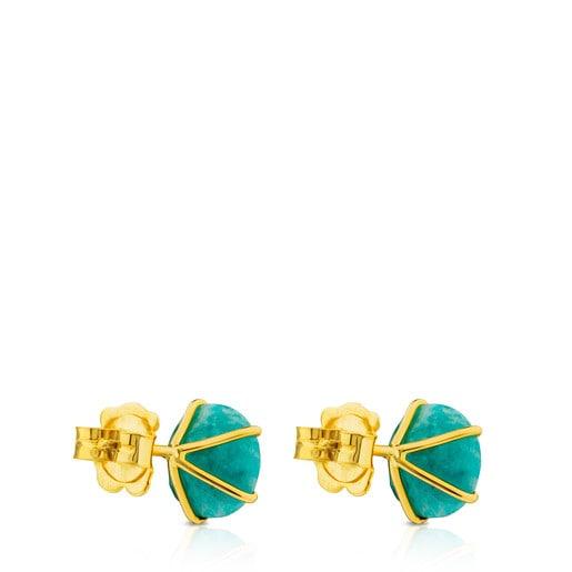 Boucles d'oreilles Ivette en Or avec Amazonite
