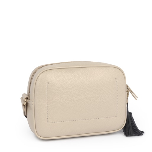 Small beige Leather Leissa Crossbody bag