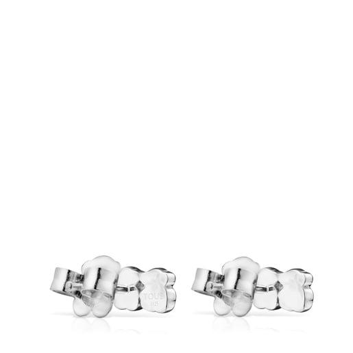 Aros Mini Color de Plata con Gemas