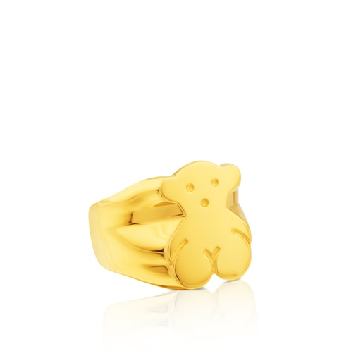 Gold TOUS Bear ring