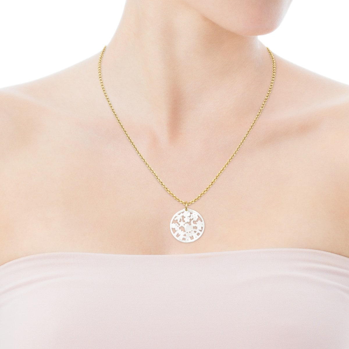 TOUS Mama Pendant in Gold and Mother-of-pearl
