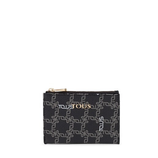 Black New TOUS Logogram Change purse-cardholder