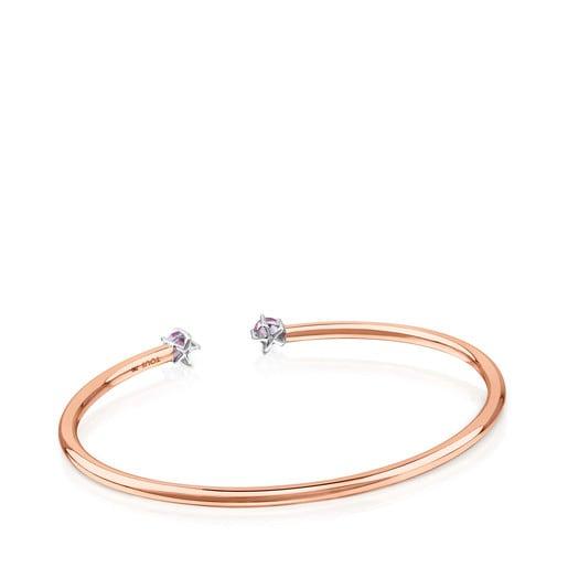 Esclava ATELIER 24/7 de oro rosa con espinelas