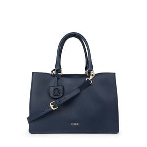 Medium navy Leather Odalis City bag