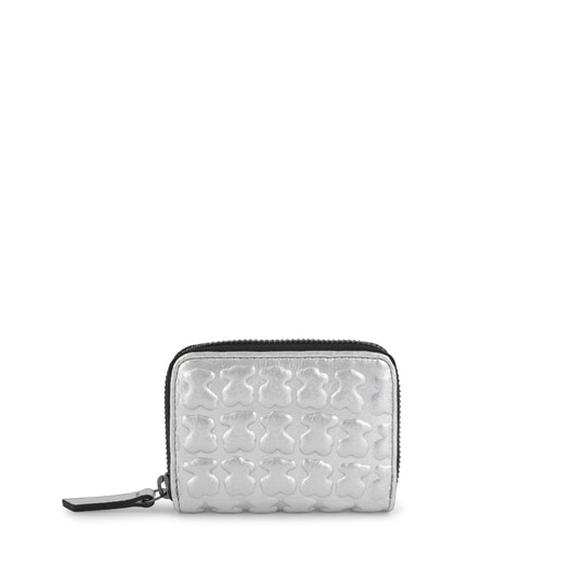 Medium silver leather Sherton purse