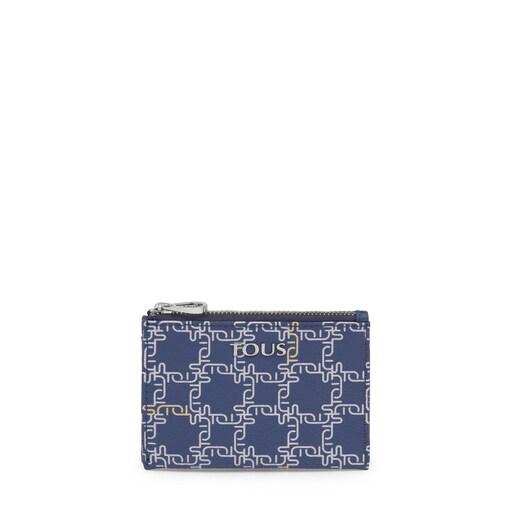 Navy Tous Logogram wallet-cardholder