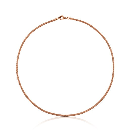 Rose IP Steel and Rose Silver Vermeil Icon Mesh Choker
