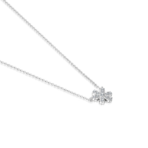Collaret Blume d'or blanc i diamants
