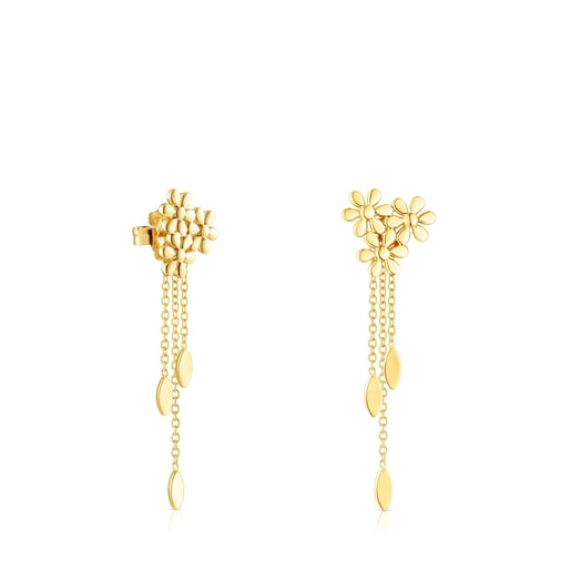 Silver Vermeil Fragile Nature extension Earrings