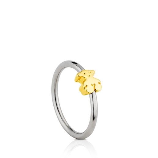Titanium and Gold Colat Ring