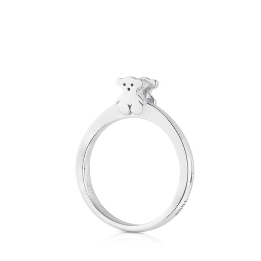 White Gold TOUS Sweet Diamonds Ring with Diamond Bear motif