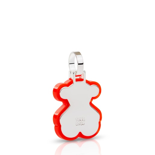 Small neon red Silver Halloween Pendant