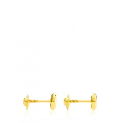Pendientes de oro con nácar 0,6cm. Camee