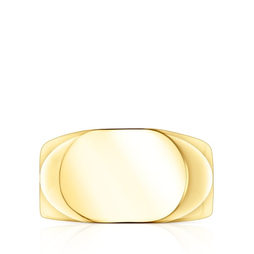 Silver Vermeil TOUS Basics oval Signet ring